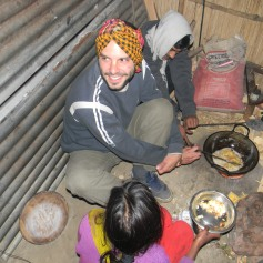 cooking with locals in Bangladesh